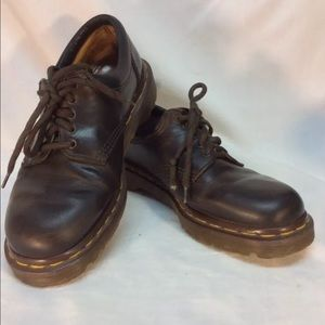 Vintage Dr Martens Shoes Brown Made In England